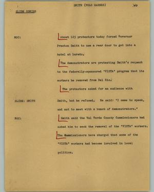 Primary view of object titled '[News Script: Smith (Polo Barnes)]'.