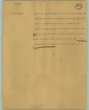 Primary view of object titled '[News Script: Paris]'.