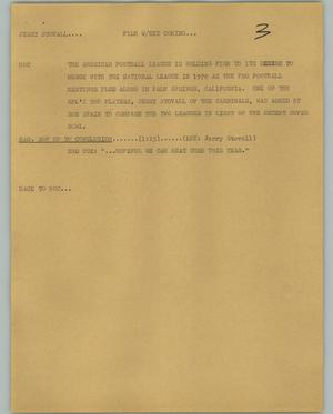 Primary view of object titled '[News Script: Jerry Stovall]'.
