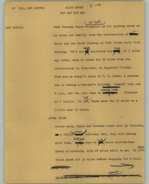 Primary view of object titled '[News Script: Wayne Brown]'.