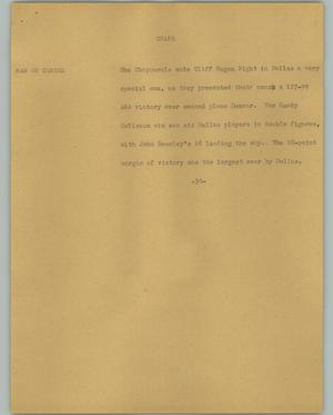Primary view of object titled '[News Script: Chaps]'.