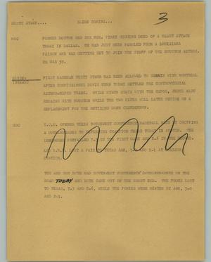 Primary view of object titled '[News Script: Rusty Staub]'.