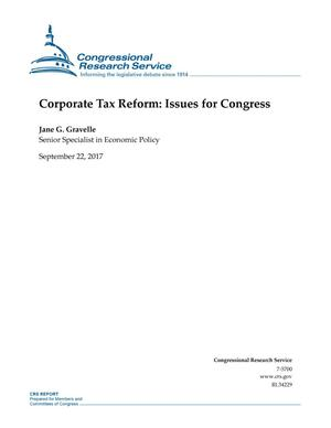 Primary view of object titled 'Corporate Tax Reform: Issues for Congress'.