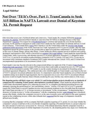 Primary view of object titled '[Not Over 'Til It's Over: TransCanada Denial of Keystone XL Permit]'.