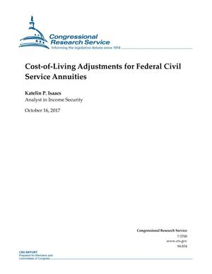 Primary view of object titled 'Cost-Of-Living Adjustments for Federal Civil Service Annuities'.