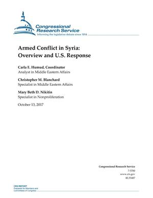 Primary view of object titled 'Armed Conflict in Syria: Overview and U.S. Response'.