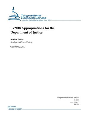 Primary view of object titled 'Fiscal Year 2018 Appropriations for the Department of Justice'.