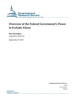 Primary view of object titled 'Overview of the Federal Government's Power to Exclude Aliens'.