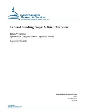 Primary view of object titled 'Federal Funding Gaps: A Brief Overview'.
