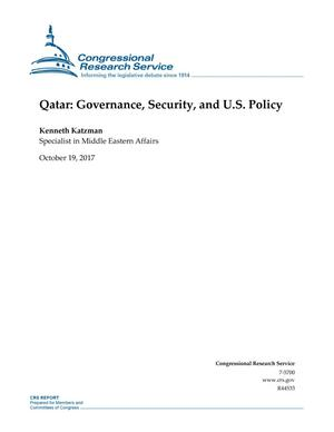 Primary view of object titled 'Qatar: Governance, Security, and U.S. Policy'.