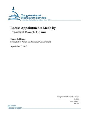 Primary view of object titled 'Recess Appointments Made by President Barack Obama'.