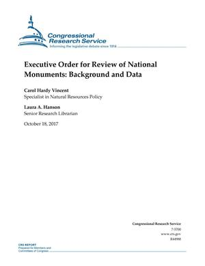 Primary view of object titled 'Executive Order for Review of National Monuments: Background and Data'.