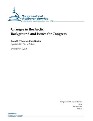 Primary view of object titled 'Changes in the Arctic: Background and Issues for Congress'.