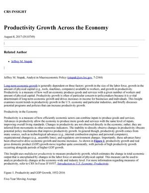 Primary view of object titled 'Productivity Growth Across the Economy'.