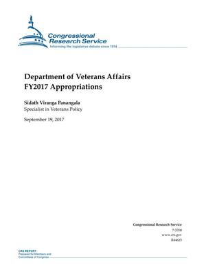 Primary view of object titled 'Department of Veterans Affairs Fiscal Year 2017 Appropriations'.