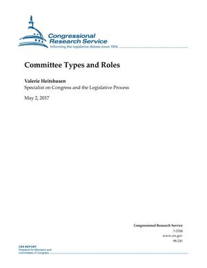 Primary view of object titled 'Committee Types and Roles'.