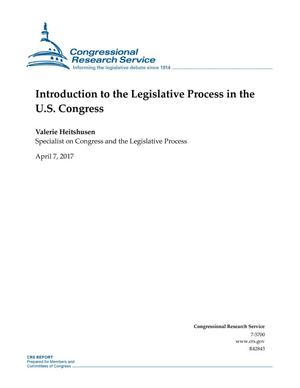 Primary view of object titled 'Introduction to the Legislative Process in the U.S. Congress'.