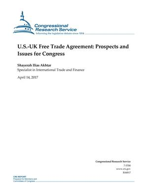 Primary view of object titled 'U.S.-U.K. Free Trade Agreement: Prospects and Issues for Congress'.