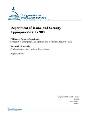 Primary view of object titled 'Department of Homeland Security Appropriations: Fiscal Year 2017'.