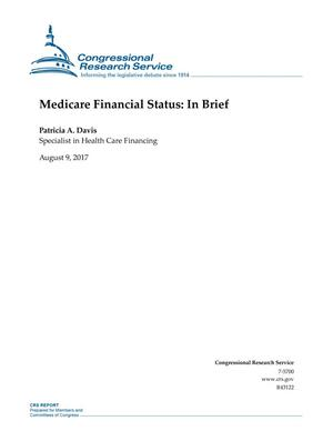 Primary view of object titled 'Medicare Financial Status: In Brief'.