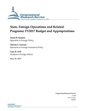 Primary view of object titled 'State, Foreign Operations and Related Programs: Fiscal Year 2017 Budget and Appropriations'.