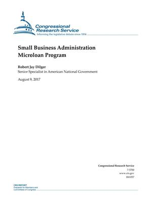 Primary view of object titled 'Small Business Administration Microloan Program'.