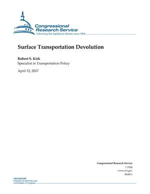 Primary view of object titled 'Surface Transportation Devolution'.
