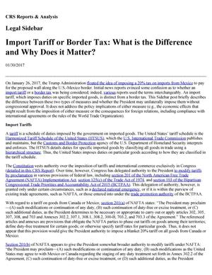 Primary view of object titled 'Import Tariff or Border Tax: What is the Difference and Why Does it Matter?'.