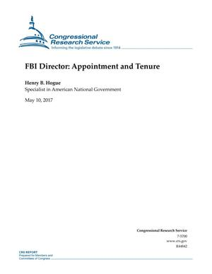 Primary view of object titled 'FBI Director: Appointment and Tenure'.