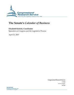 "Primary view of object titled 'The Senate's ""Calendar of Business""'."