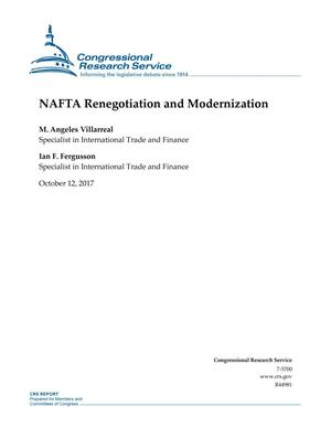 Primary view of object titled 'NAFTA Renegotiation and Modernization'.