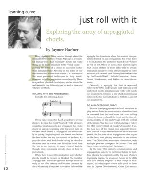Just Roll With It: Exploring the Array of Arpeggiated Chords