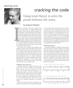 Primary view of object titled 'Cracking the Code: Using Tonal Theory to Solve the Puzzle Between the Notes'.