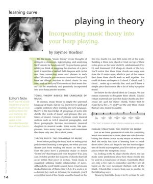 Primary view of object titled 'Playing in Theory: Incorporating Music Theory Into Your Harp Playing'.