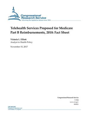 Primary view of object titled 'Telehealth Services Proposed for Medicare Part B Reimbursements, 2018: Fact Sheet'.