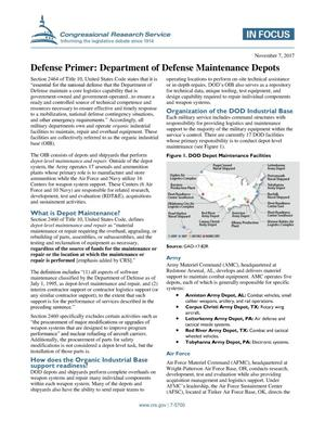 Primary view of object titled 'Defense Primer: Department of Defense Maintenance Depots'.