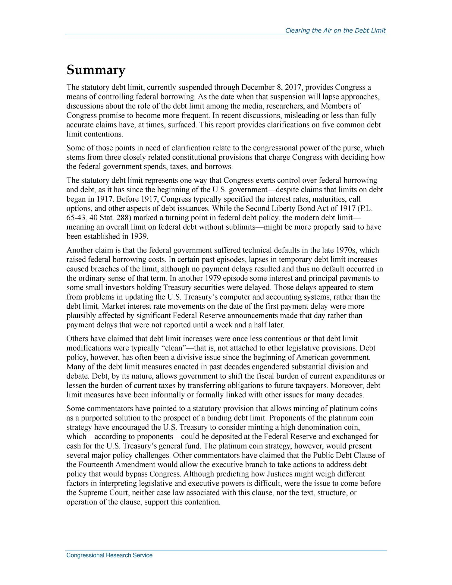 Clearing the Air on the Debt Limit                                                                                                      [Sequence #]: 2 of 15