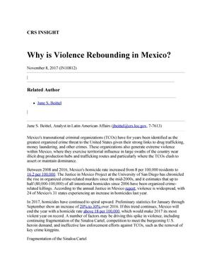 Primary view of object titled 'Why is Violence Rebounding in Mexico?'.