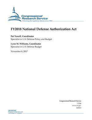 Primary view of object titled 'Fiscal Year 2018 National Defense Authorization Act'.