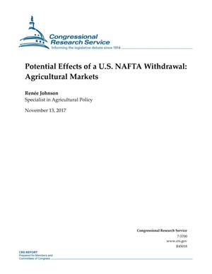 Primary view of object titled 'Potential Effects of a U.S. NAFTA Withdrawal: Agricultural Markets'.