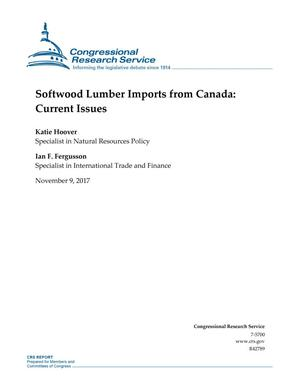 Primary view of object titled 'Softwood Lumber Imports from Canada: Current Issues'.