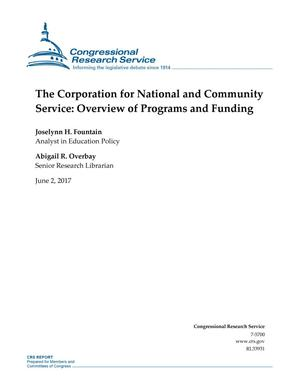 Primary view of object titled 'The Corporation for National and Community Service: Overview of Programs and Funding'.