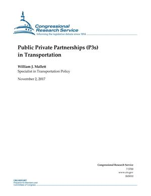 Primary view of object titled 'Public Private Partnerships (P3s) in Transportation'.