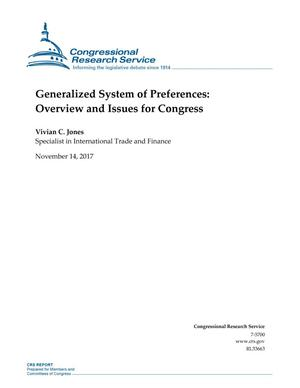 Primary view of object titled 'Generalized System of Preferences: Overview and Issues for Congress'.
