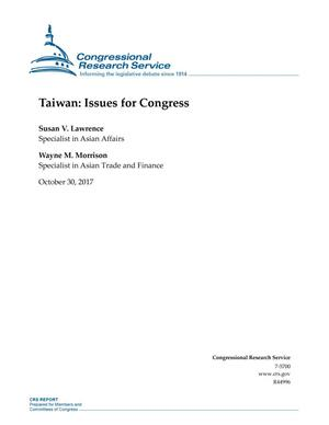 Primary view of object titled 'Taiwan: Issues for Congress'.