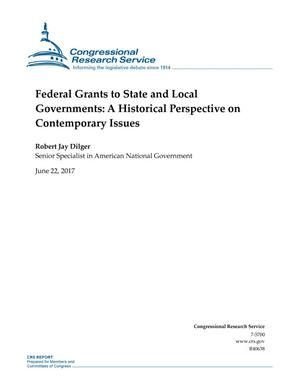 Primary view of object titled 'Federal Grants to State and Local Governments: A Historical Perspective on Contemporary Issues'.