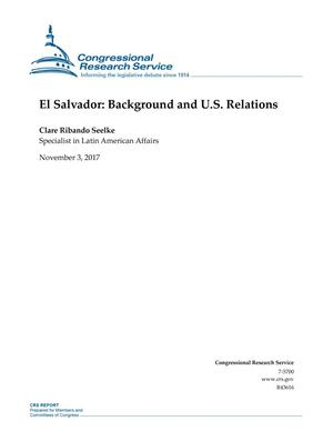 Primary view of object titled 'El Salvador: Background and U.S. Relations'.