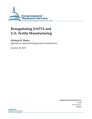 Primary view of object titled 'Renegotiating NAFTA and U.S. Textile Manufacturing'.