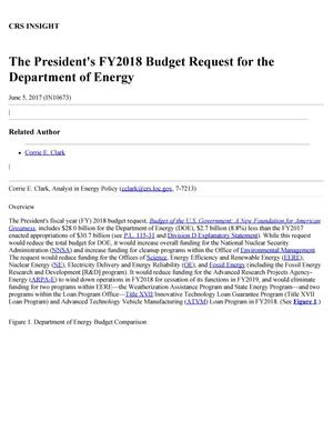 Primary view of object titled 'The President's Fiscal Year 2018 Budget Request for the Department of Energy'.