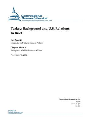 Primary view of object titled 'Turkey: Background and U.S. Relations In Brief'.